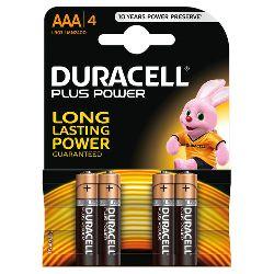 DURACELL PLUS POWER  AAA B4 MINISTILO MN2400 LR03 HR03 ALKALINA
