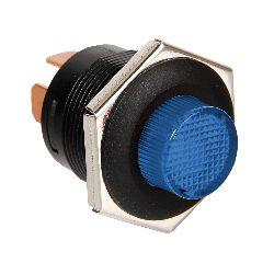 INTERRUTTORE PULSANTE 12/24V CON LED BLU
